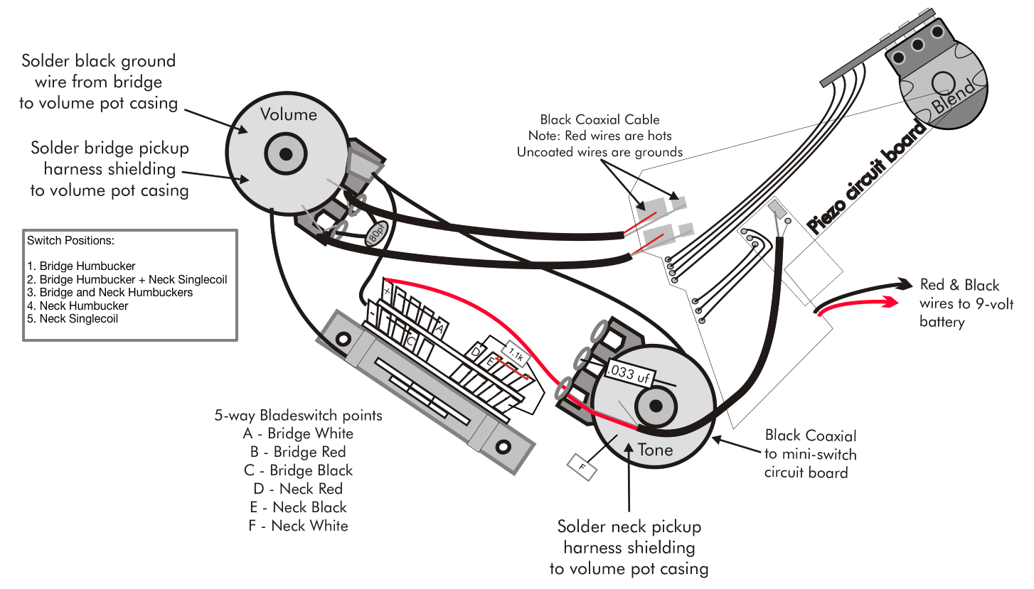 custom 22 piezo updated wiring with singlecoil neck official prsneck single coil [ img]